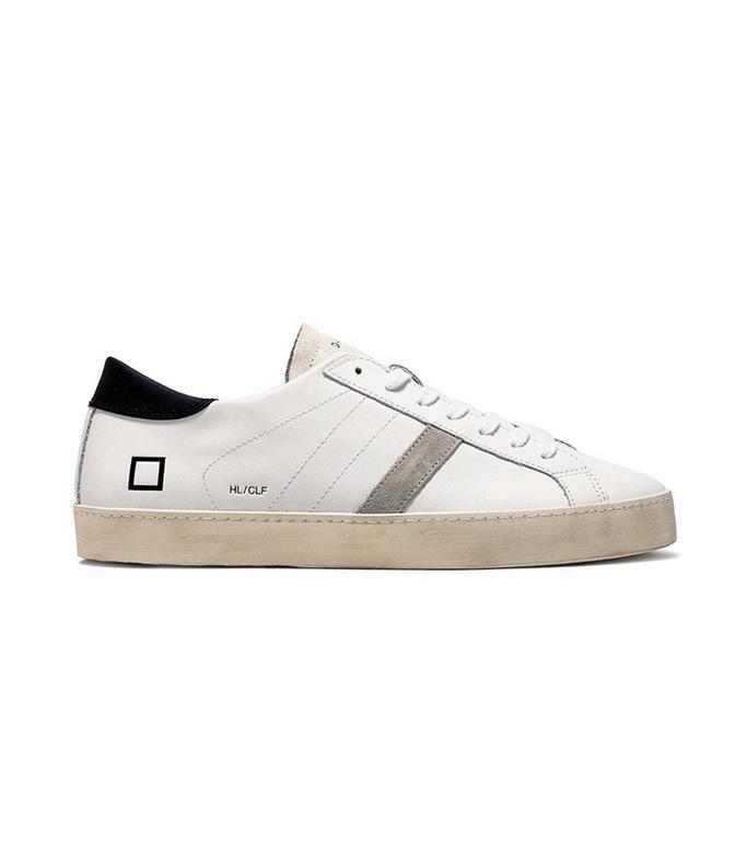 D.A.T.E. - Scarpe - Sneakers - hill low calf white-black