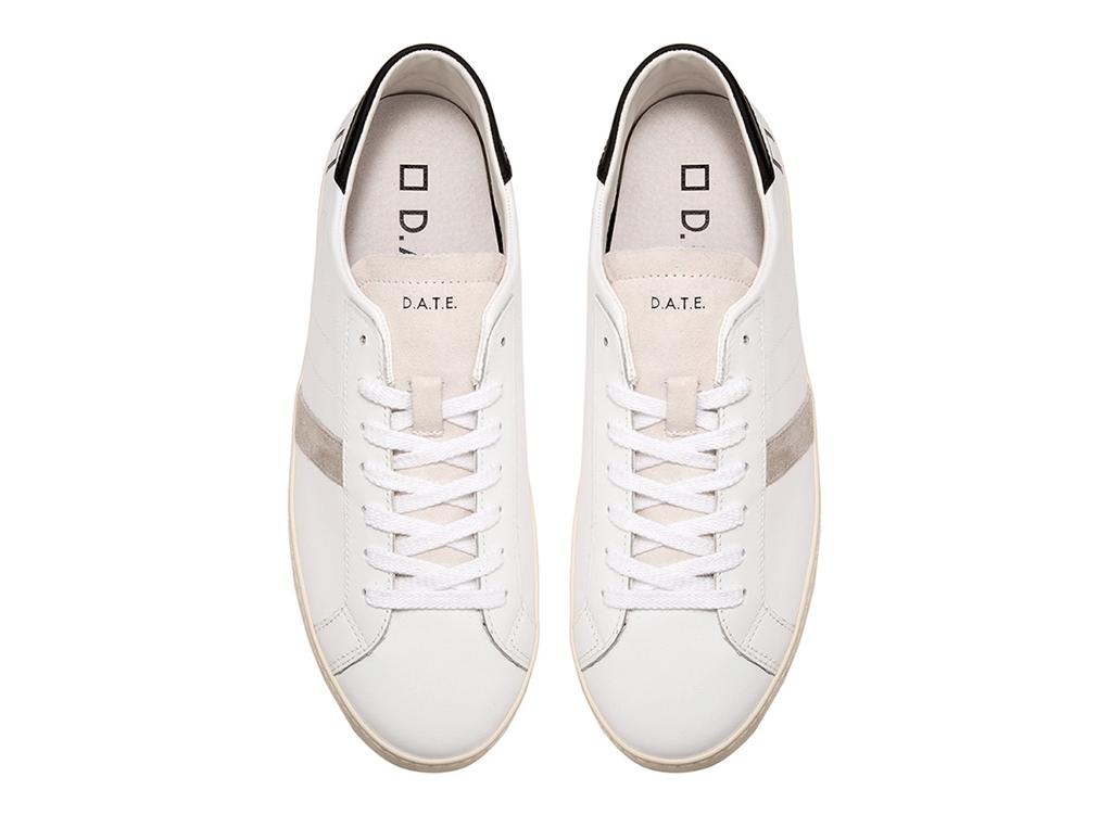 D.A.T.E. - Scarpe - Sneakers - hill low calf white-black 1