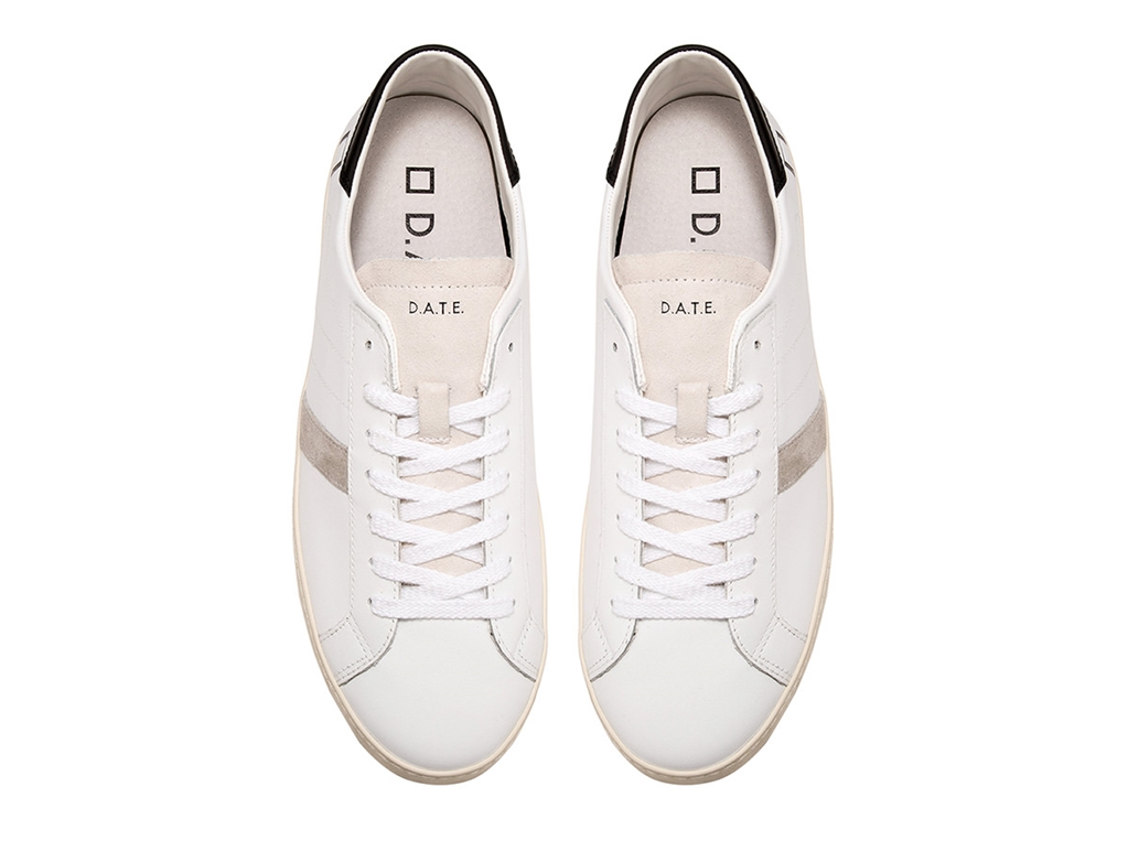 D.A.T.E. - Scarpe - Sneakers - hill low calf white-black 1