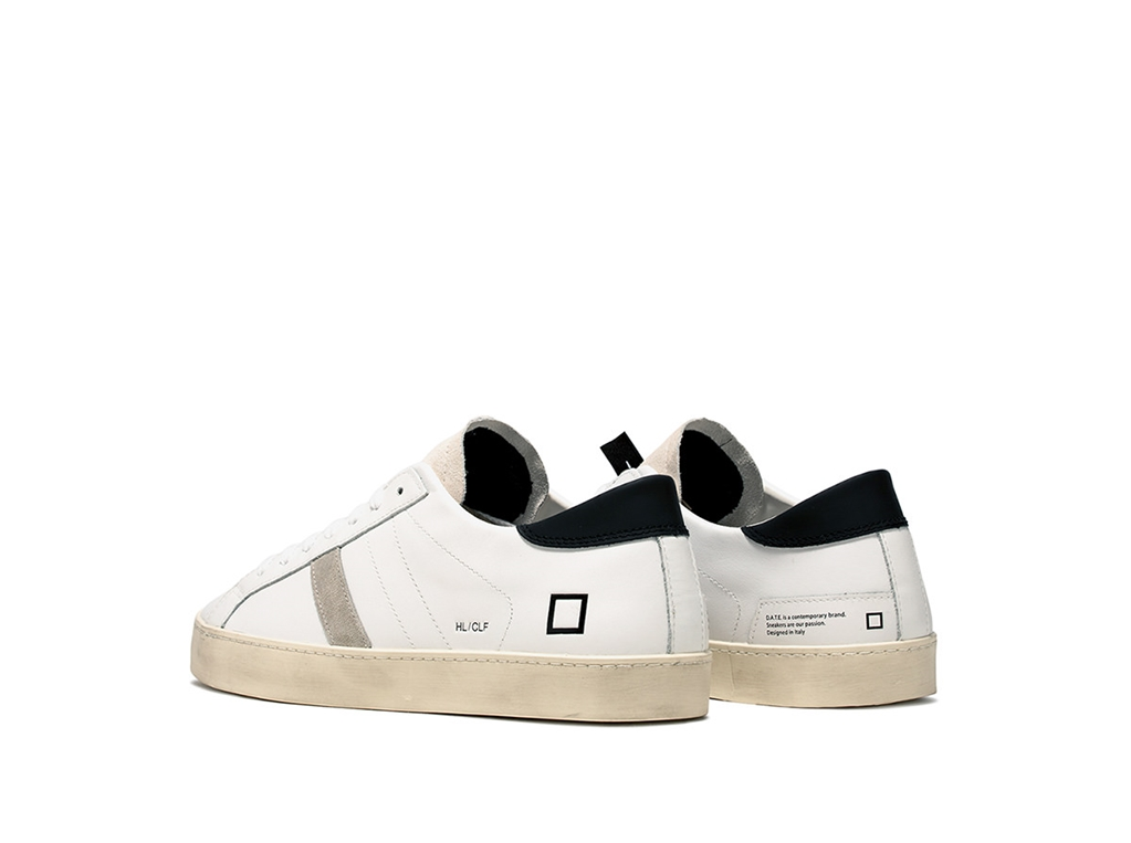 D.A.T.E. - Scarpe - Sneakers - hill low calf white-black 2