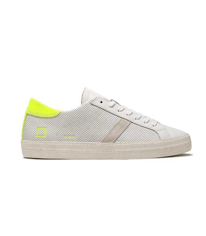 D.A.T.E. - Scarpe - Sneakers - hill low fluo perf.white-yellow