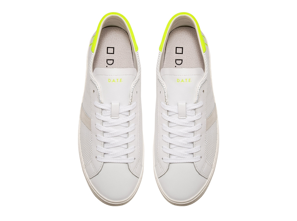 D.A.T.E. - Scarpe - Sneakers - hill low fluo perf.white-yellow 1