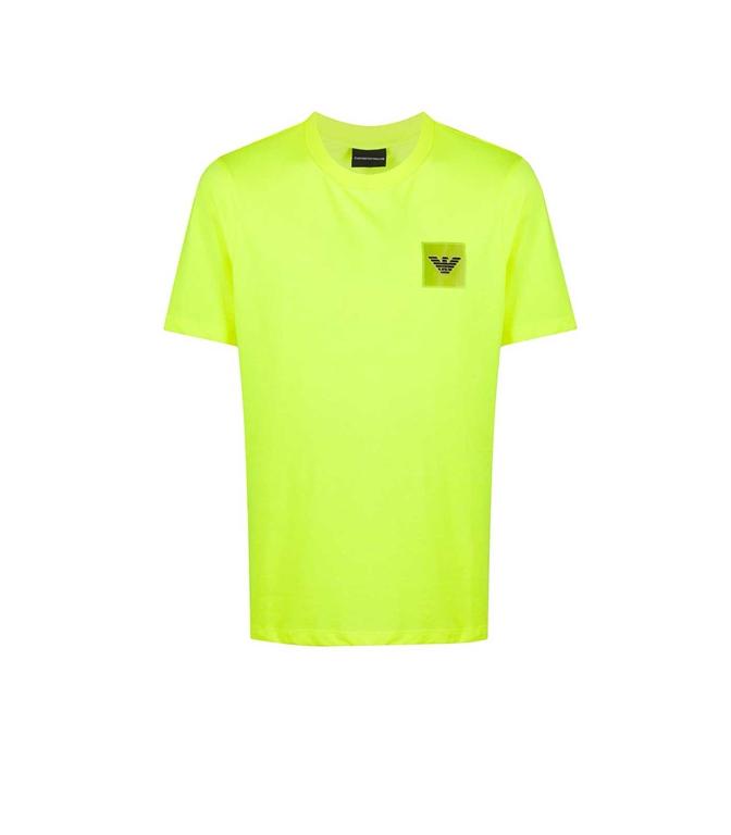 Emporio Armani - T-Shirt - t-shirt con applicazione giallo fluo