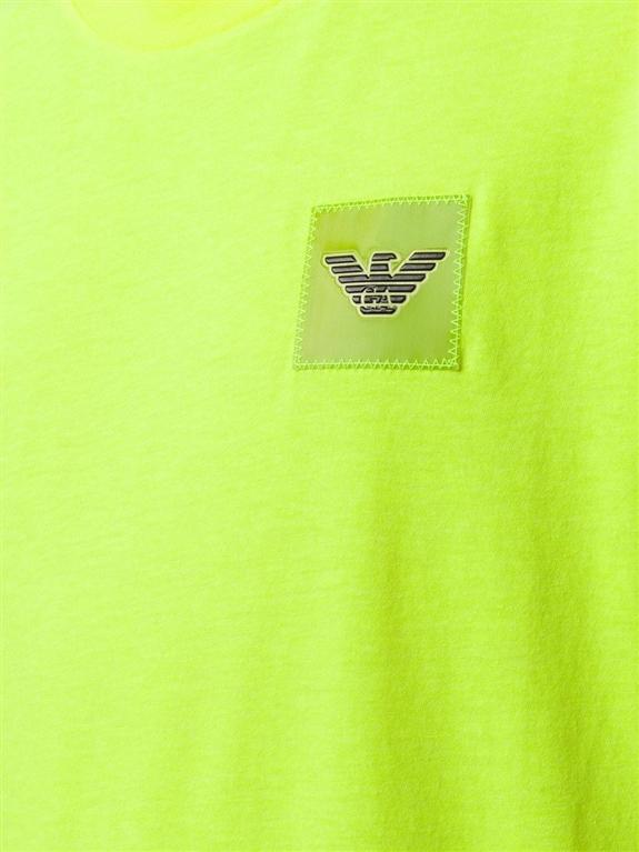 Emporio Armani - T-Shirt - t-shirt con applicazione giallo fluo 2