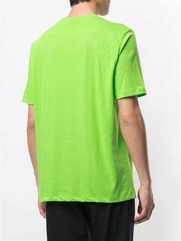 Emporio Armani - T-Shirt - t-shirt con applicazione verde fluo 1