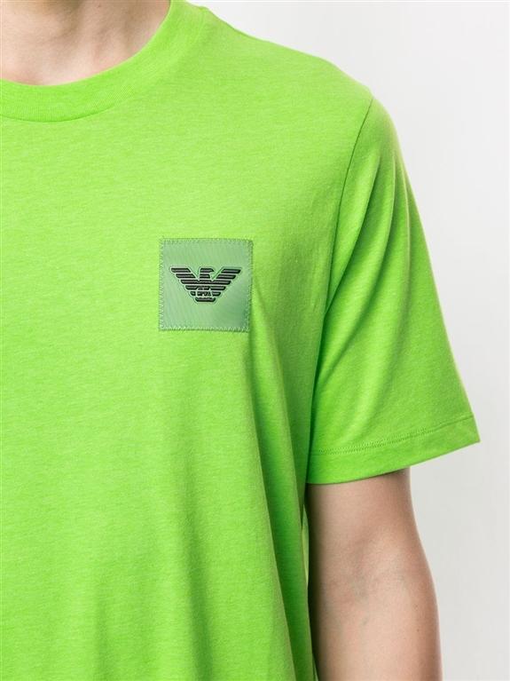 Emporio Armani - T-Shirt - t-shirt con applicazione verde fluo 2