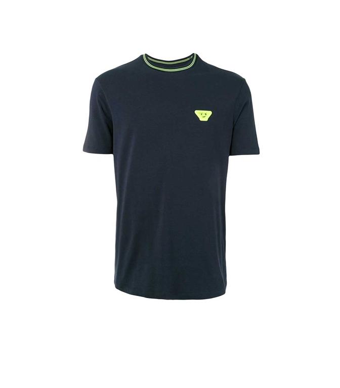 Emporio Armani - T-Shirt - T-SHIRT CON STAMPA BLU