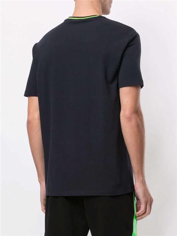 Emporio Armani - T-Shirt - t-shirt con stampa blu 1