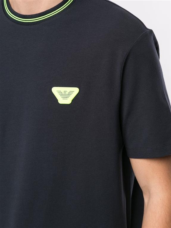Emporio Armani - T-Shirt - t-shirt con stampa blu 2