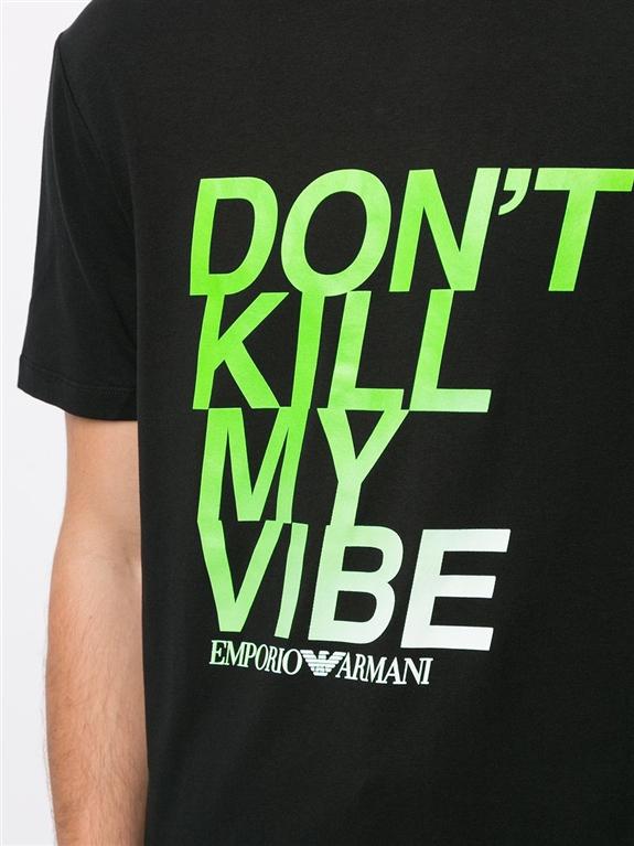 Emporio Armani - T-Shirt - t-shirt don't kill my vibe nero 2