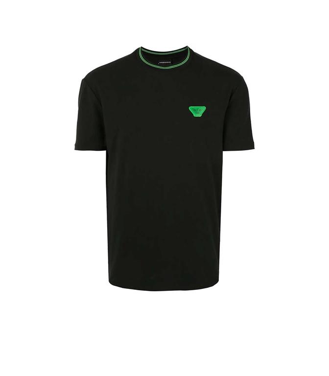 Emporio Armani - T-Shirt - t-shirt con applicazione nera