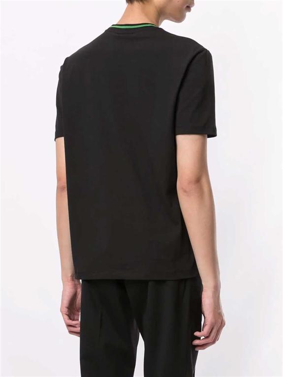 Emporio Armani - T-Shirt - t-shirt con applicazione nera 1
