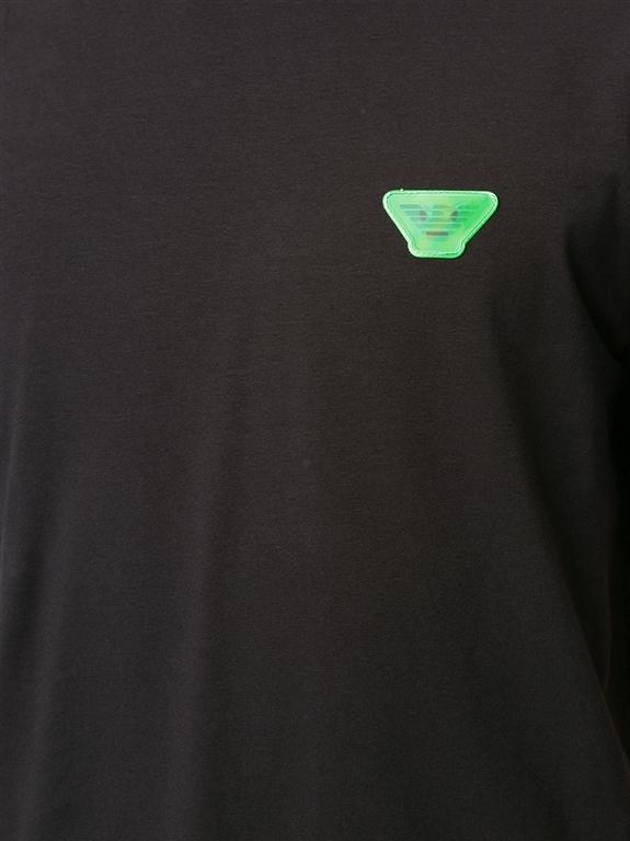 Emporio Armani - T-Shirt - t-shirt con applicazione nera 2