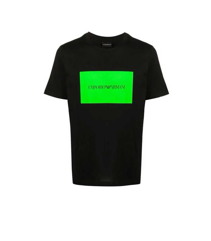 Emporio Armani - T-Shirt - t-shirt con stampa nera