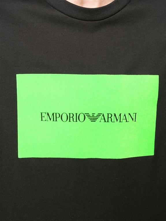 Emporio Armani - T-Shirt - t-shirt con stampa nera 2