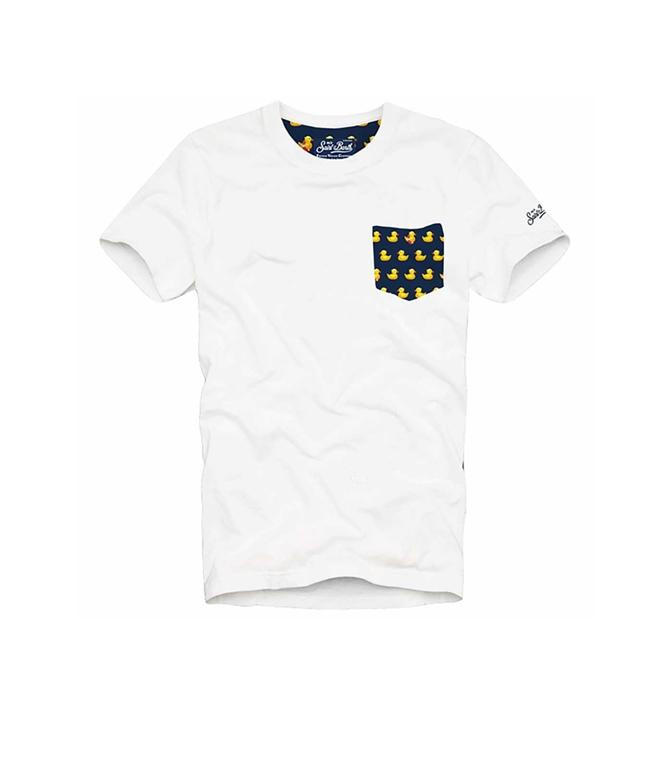 Mc2 Saint Barth - T-Shirt - T-SHIRT BLANCHE DUCKY
