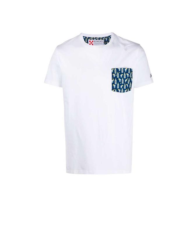 Mc2 Saint Barth - T-Shirt - T-SHIRT BLANCHE GINX