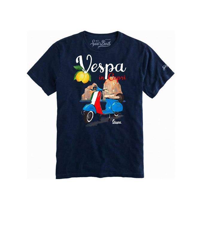 Mc2 Saint Barth - T-Shirt - T-SHIRT STAMPA VESPA® IN CAPRI