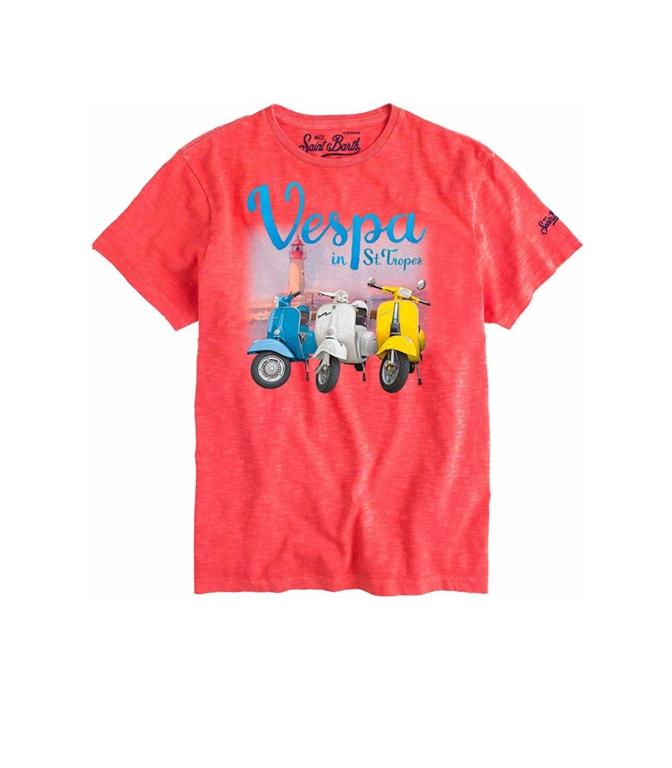 Mc2 Saint Barth - T-Shirt - T-SHIRT VESPA® SAINT TROPEZ