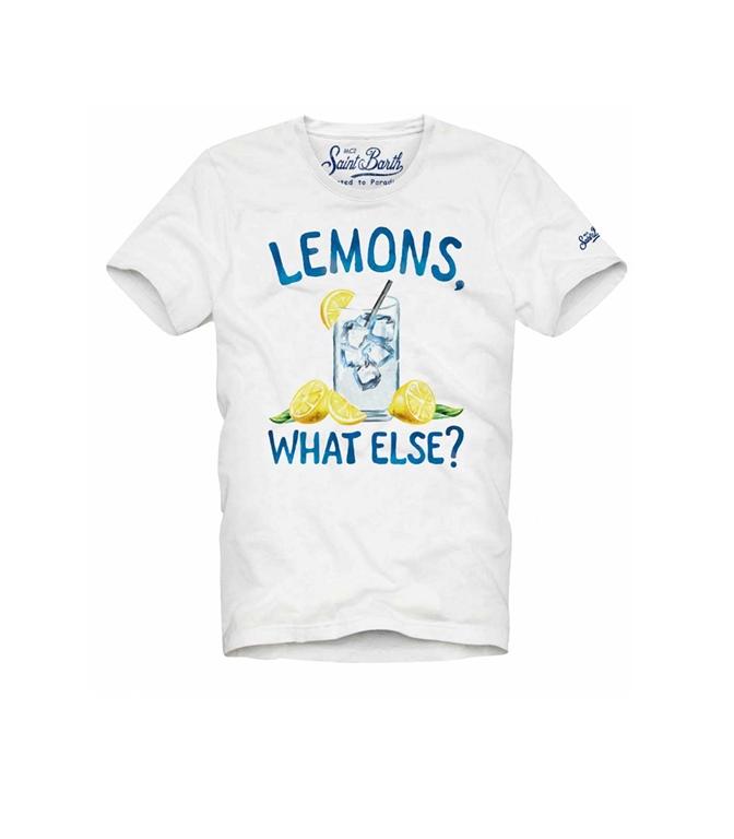 """Mc2 Saint Barth - T-Shirt - T-SHIRT """"LEMONS, WHAT ELSE?"""""""