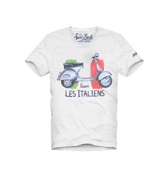 Mc2 Saint Barth - T-Shirt - T-SHIRT WATERCOLOR VESPA© LES ITALIENS