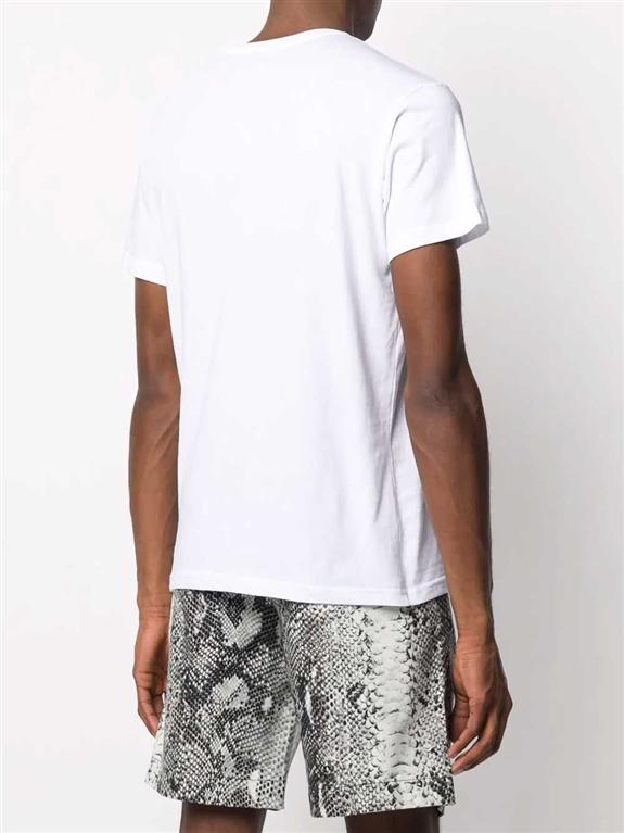 N°21 - T-Shirt - t-shirt regarde con stampa bianca 1