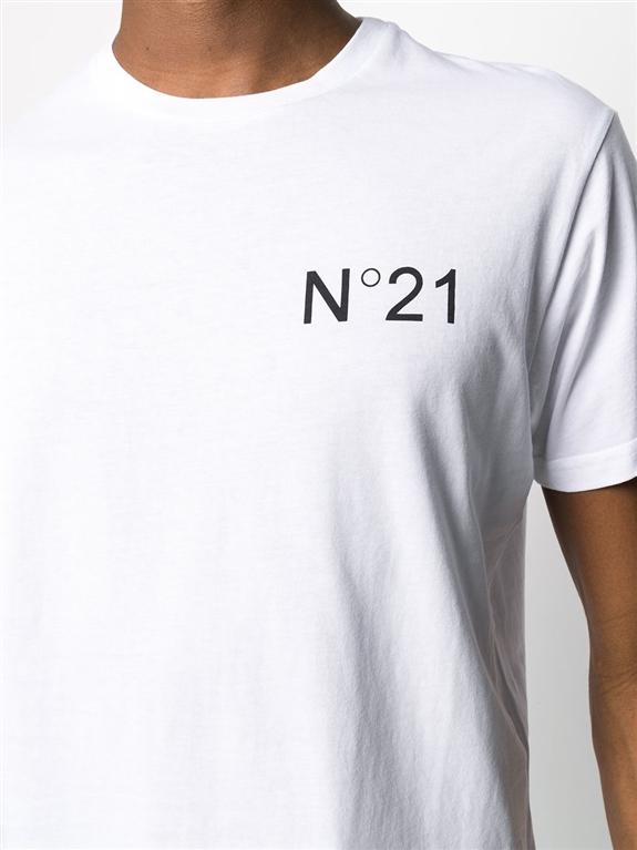 N°21 - T-Shirt - t-shirt regarde con stampa bianca 2