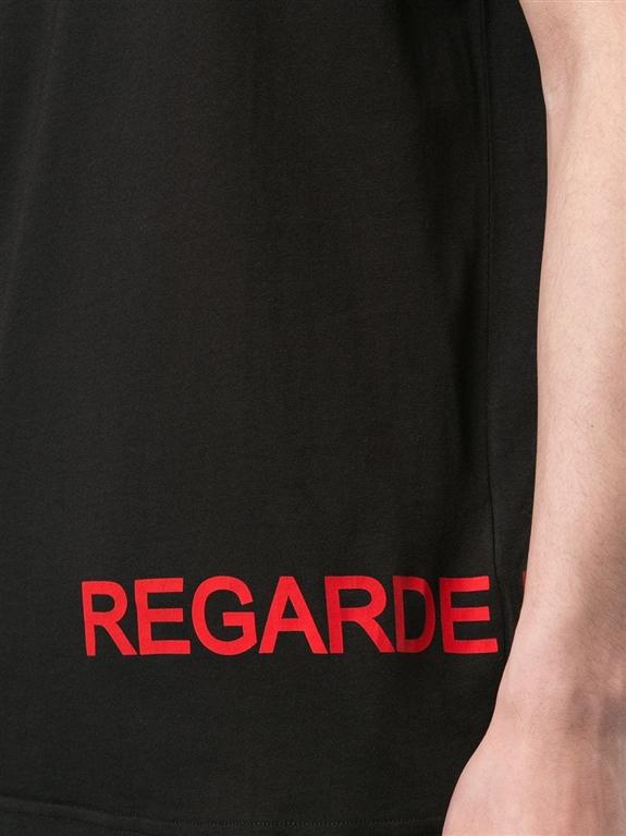 N°21 - T-Shirt - t-shirt regarde con stampa nera 2