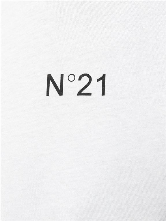 N°21 - T-Shirt - t-shirt con stampa bianca 2