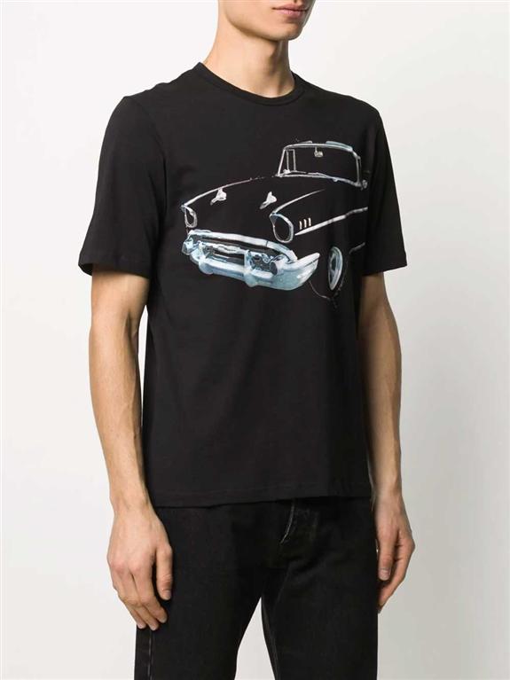 N°21 - T-Shirt - maglia nera stampa auto 1