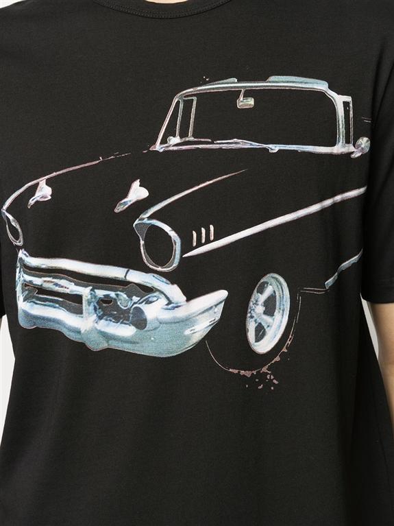 N°21 - T-Shirt - maglia nera stampa auto 2