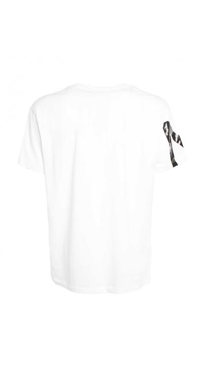 N°21 - T-Shirt - t-shirt girocollo con stampa bianca 1