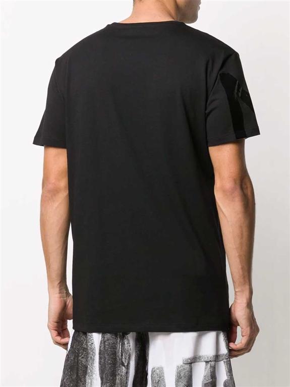 N°21 - T-Shirt - t-shirt girocollo con stampa nera 1