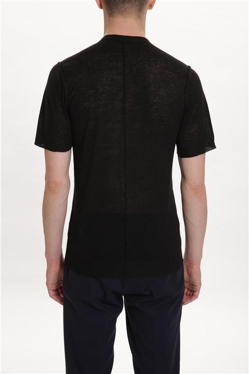 Paolo Pecora - Maglie - maglia girocollo nera 1