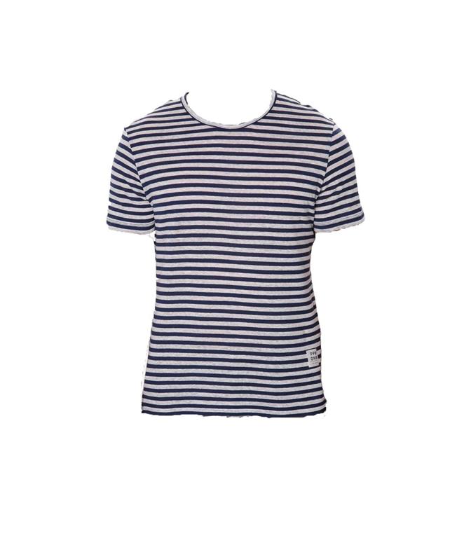 Paolo Pecora - T-Shirt - maglia righe bianco/blu