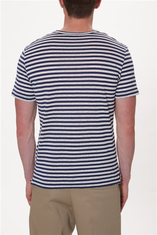 Paolo Pecora - T-Shirt - maglia righe bianco/blu 1