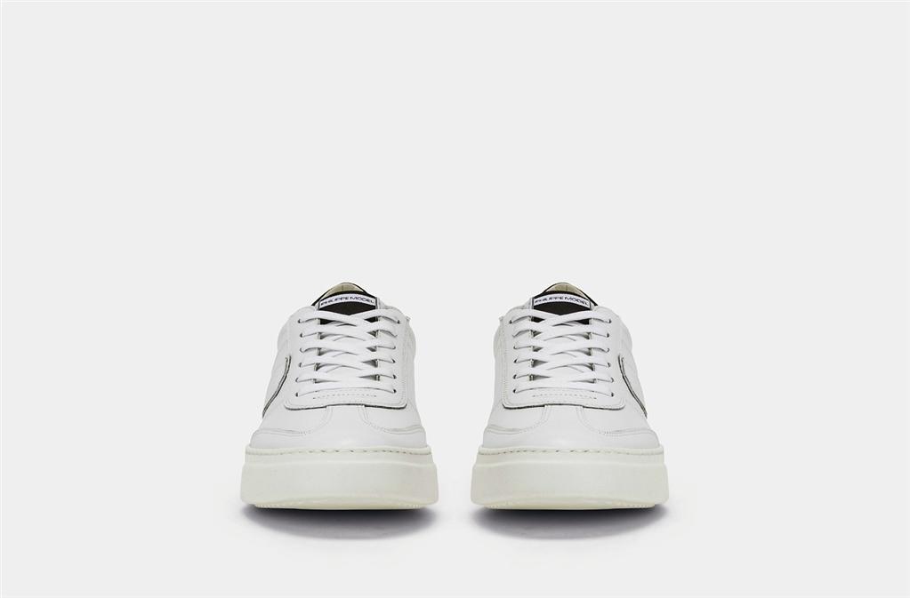 Philippe Model - Scarpe - Sneakers - temple s veau - blanc noir 2