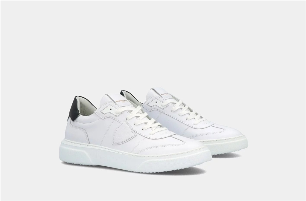 Philippe Model - Scarpe - Sneakers - temple s veau - blanc noir 3