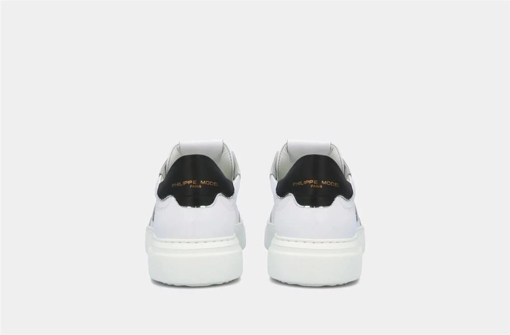Philippe Model - Scarpe - Sneakers - temple s veau - blanc noir 4