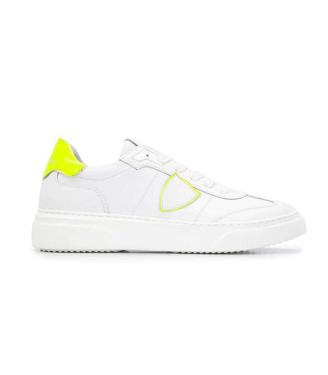Philippe Model - Scarpe - Sneakers - temple s veau neon - blanc jaune
