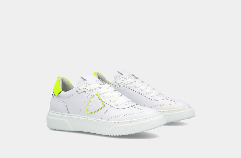 Philippe Model Paris - Scarpe - Sneakers - temple s veau neon - blanc jaune 3