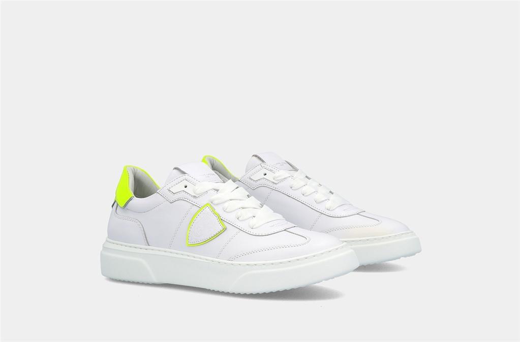 Philippe Model - Scarpe - Sneakers - temple s veau neon - blanc jaune 3