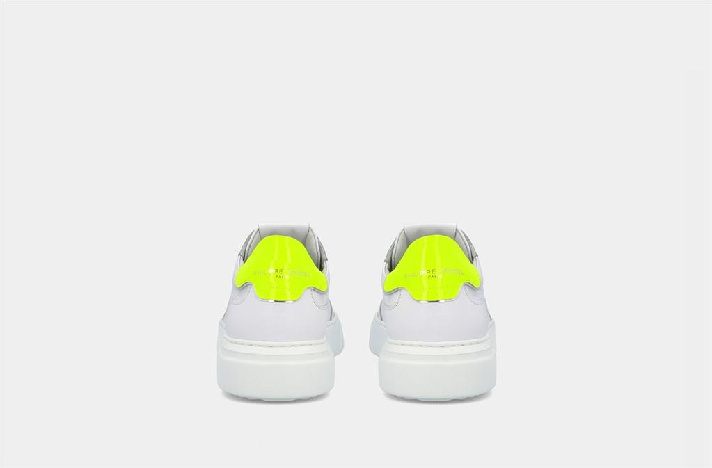 Philippe Model - Scarpe - Sneakers - temple s veau neon - blanc jaune 4