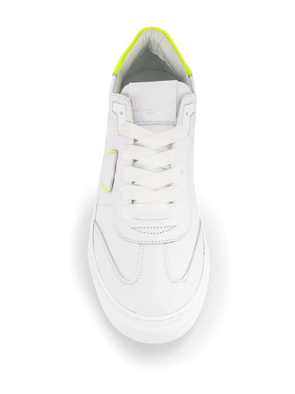 Philippe Model - Scarpe - Sneakers - temple s veau neon - blanc jaune 1