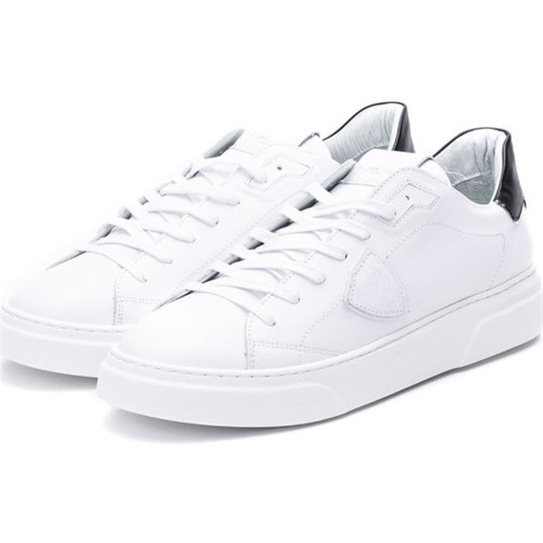 Philippe Model - Scarpe - Sneakers - temple s homme l u - veau blanc noir 1