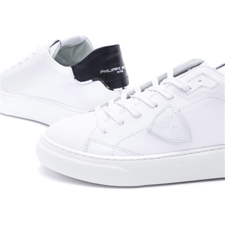 Philippe Model Paris - Scarpe - Sneakers - temple s homme l u - veau blanc noir 2