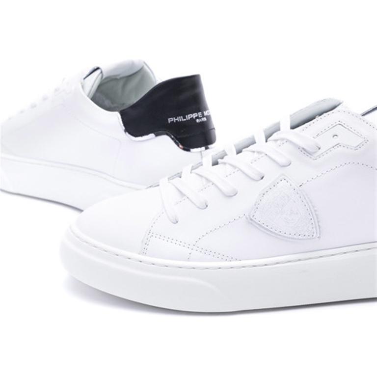 Philippe Model - Scarpe - Sneakers - temple s homme l u - veau blanc noir 2