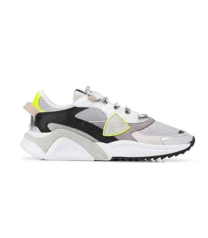 Philippe Model Paris - Scarpe - Sneakers - Eze Metal Fluo - Argent Jaune