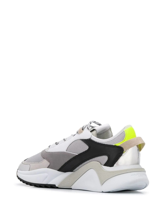 Philippe Model - Scarpe - Sneakers - eze metal fluo - argent jaune 2