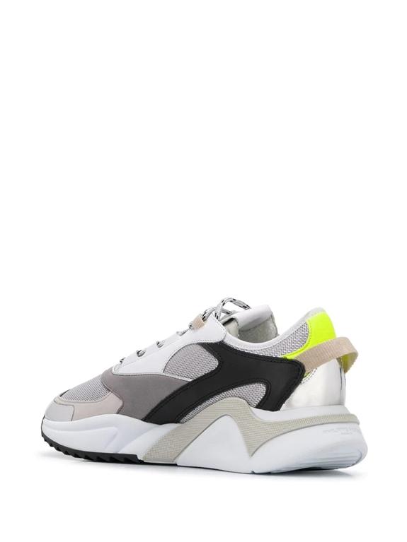 Philippe Model Paris - Scarpe - Sneakers - eze metal fluo - argent jaune 2